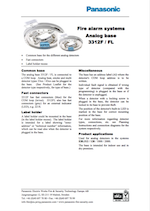 Panasonic Analog Base 3312F/FL