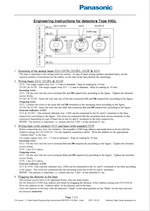 Panasonic Instructions Detectors 44xx